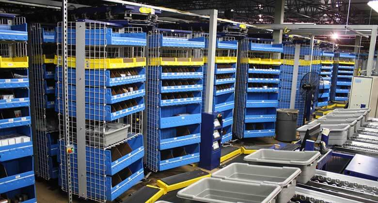 Different from the vertical storage solutions we offer, our horizontal carousel storage solutions are geared toward a warehouse in need of high speed, highly automated inventory delivery.