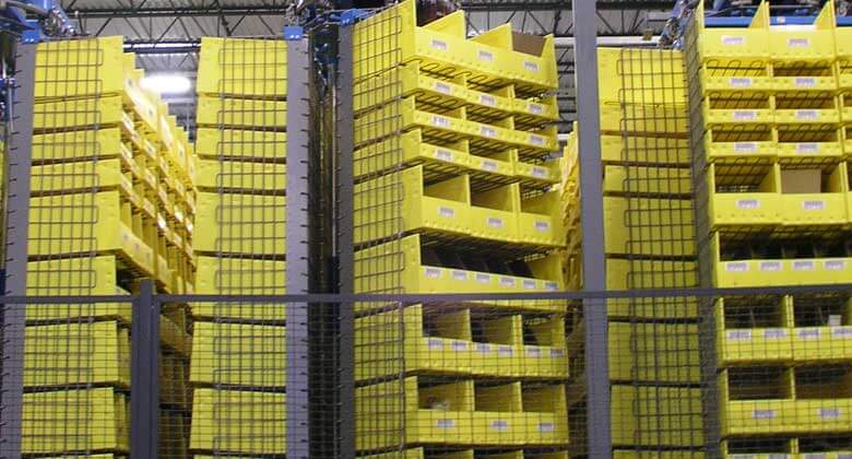 Fully automated horizontal carousel storage system.